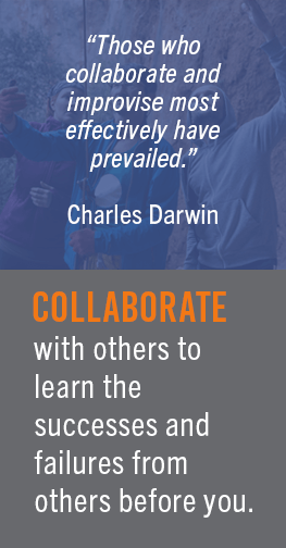 Those who collaborate and improvise most effectively have prevailed. Charles Darwin