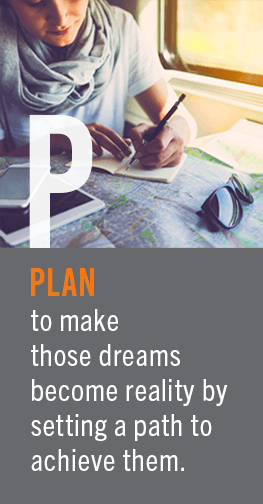 Plan To make those dreams become reality by setting a path to achieve excellence.